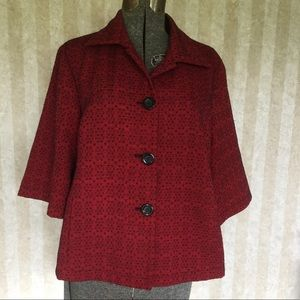 Coldwater Creek 3/4 Sleeved Swing Blazer